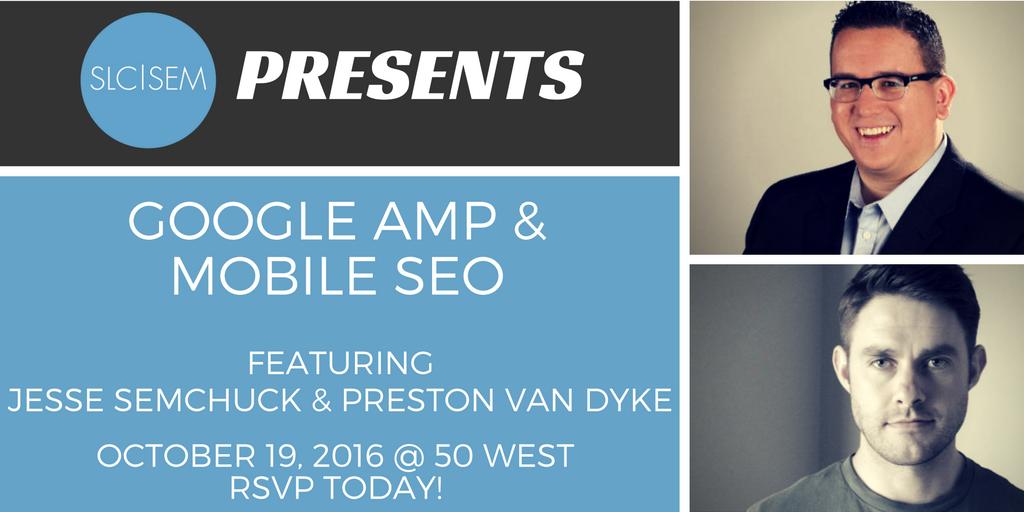 [Recap] Google AMP & Mobile SEO - October 2016